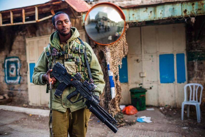 Israeli soldier. Hebron, 2013.
