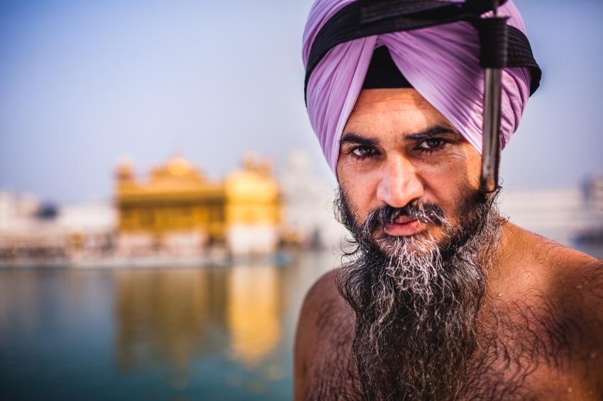 Bathing at Harmandir Sahib. Amritsar, 2013.