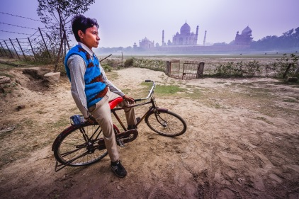 The other side of the Taj Mahal. Agra, India, 2013.