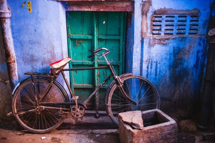 I miss my bicycle. I think it is the best vehicle for human ever created. Jodhpur, India, 2014.