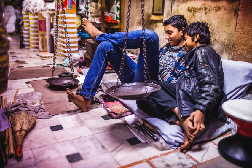 When I was a child, I use to spend hours watching my brother playing video games. We had an Atari 520ST hooked up to a TV monitor, now smartphones do the job everywhere on earth. To all the brothers who shared those moments. Jodhpur, India, 2014.