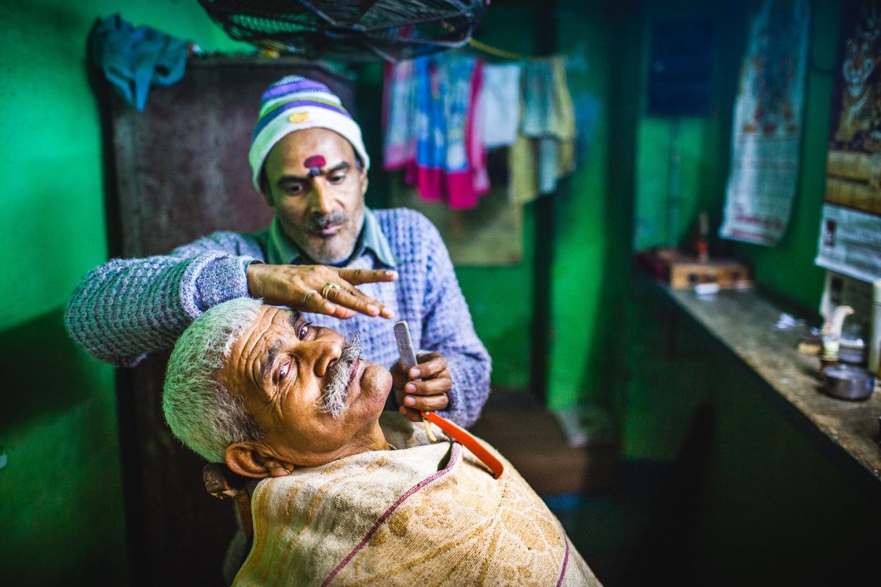 Tricky business. Varanasi, Uttar Pradesh, India, 2014.