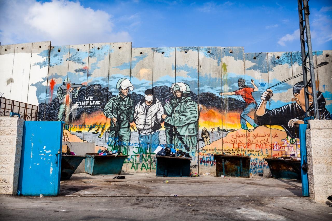 More tags on the Segregation Wall. Bethlehem, Palestine, 2014.