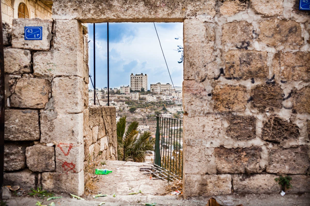 Street view in the Old Bethlehem. Bethlehem, Palestine, 2014.
