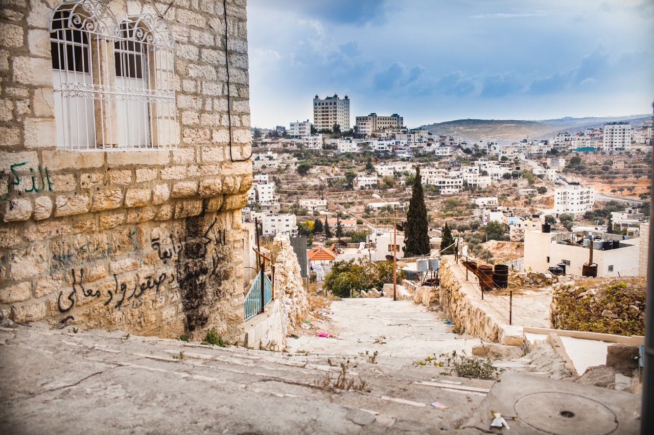 View on the hills in the Old Bethlehem. Bethlehem, Palestine, 2014.