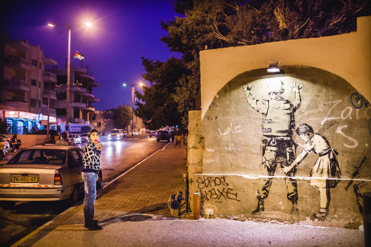 Another Banksy tag. Bethlehem, Palestine, 2014.