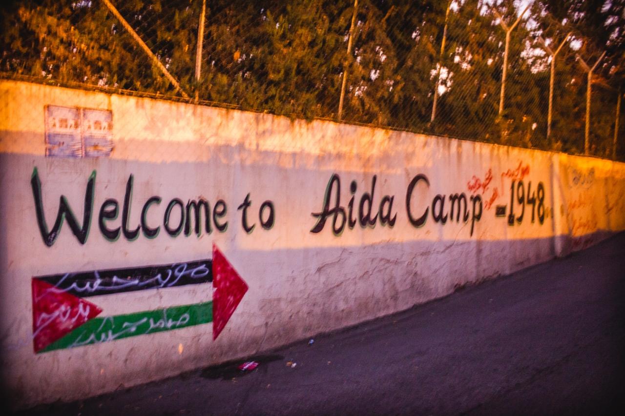 Welcome to Aida Camp. Bethlehem, Palestine, 2014.