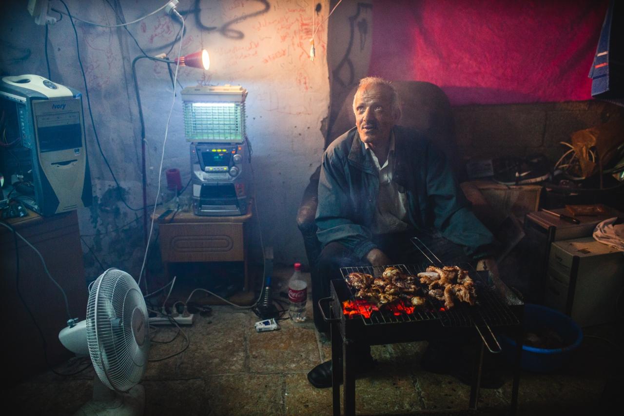 A family welcome me for dinner in Bethlehem. Bethlehem, Palestine, 2014.