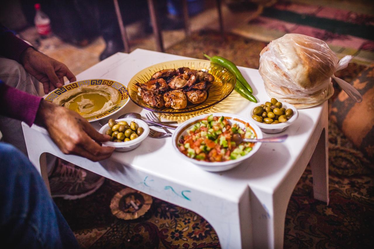 A hospitality meal in Bethlehem. Bethlehem, Palestine, 2014.